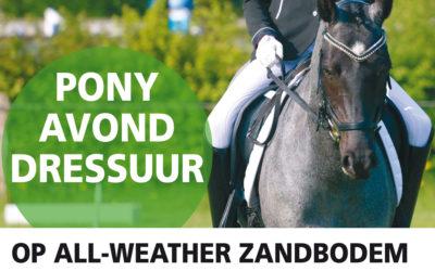 NIEUW: Avond dressuurwedstrijden voor ponycombinaties